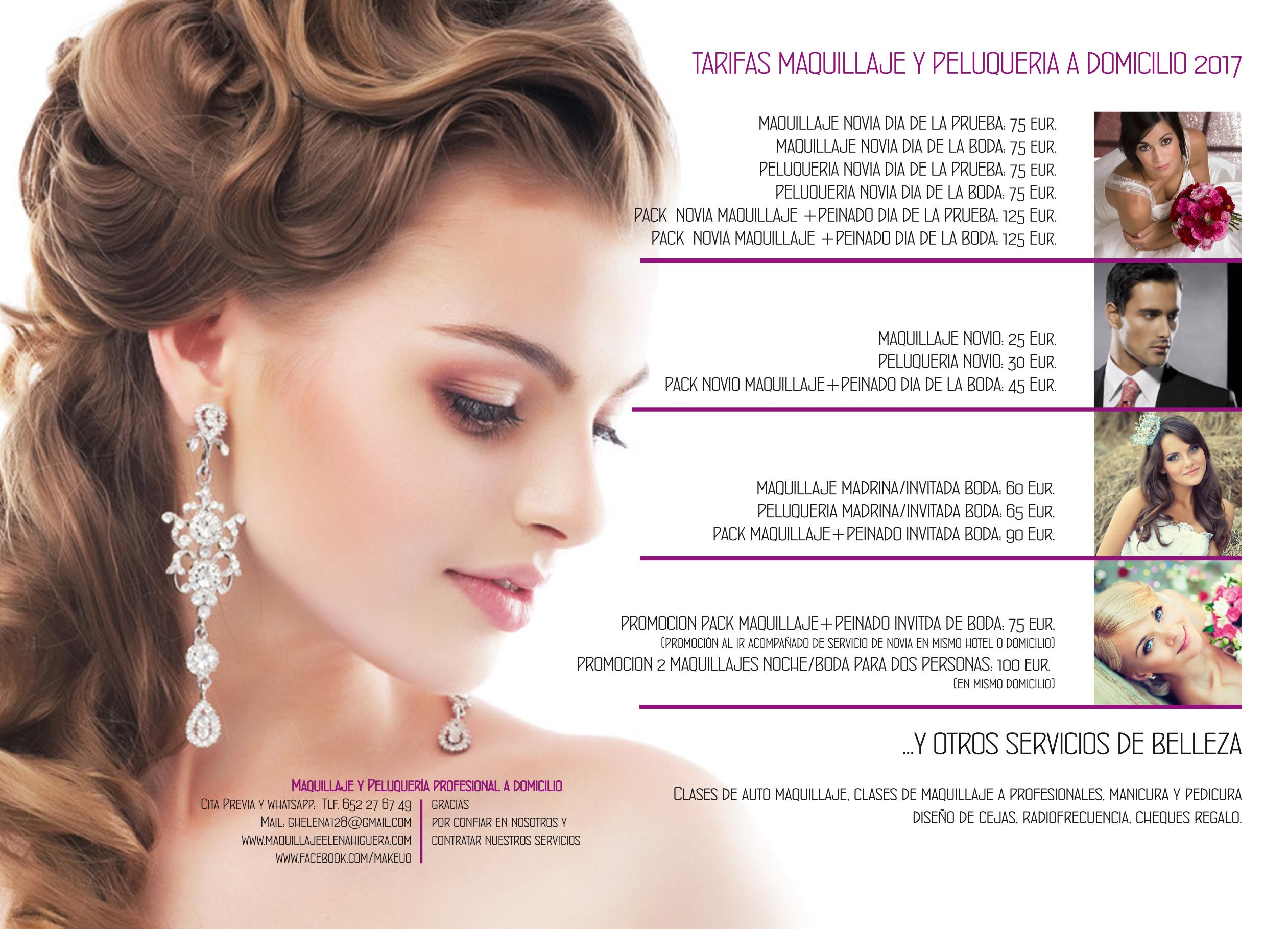 Precios de peinados para novias