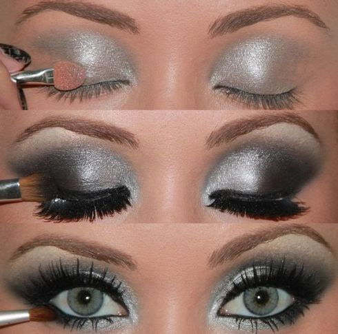 chica-con-maquillaje-en-color-plata-y-negro
